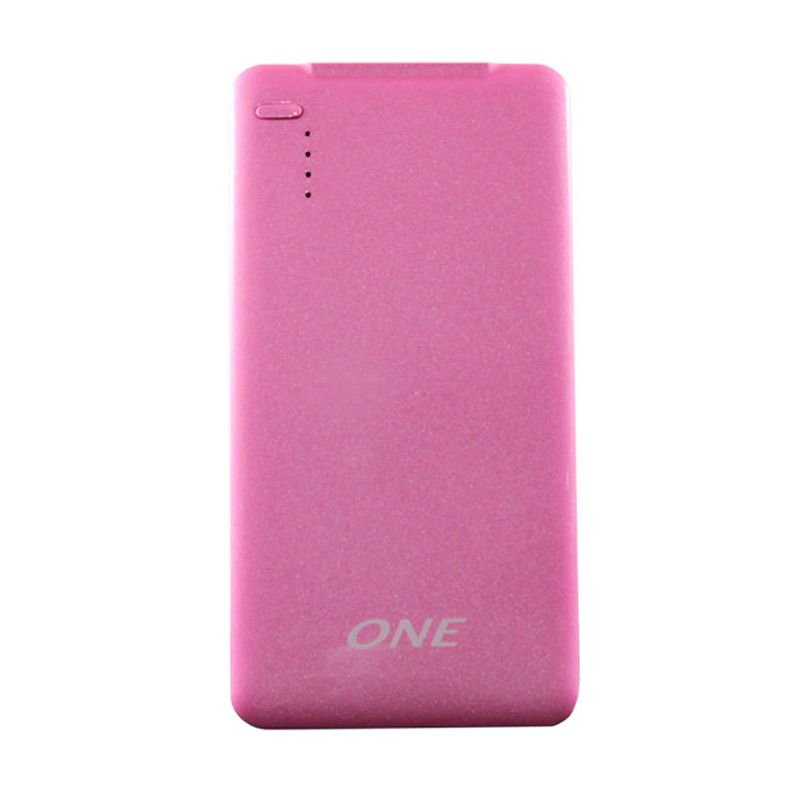 ONE 500p Pink Powerbank Polimer [5000MAH]