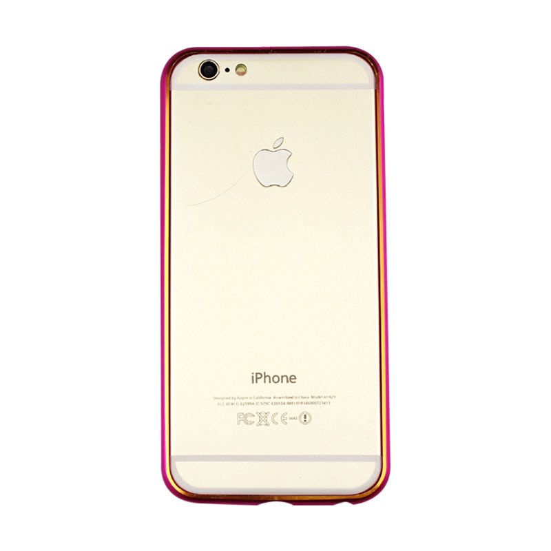 Migun Bumper Metal Pink Casing for iPhone 6