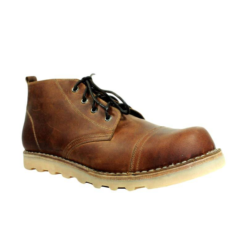 Million Safety Boots Rhodonite Patern Brown