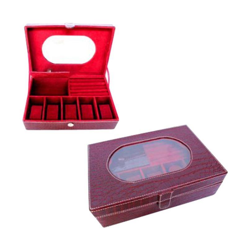 Grandby Watch Box and Jewelry Kaca Oval Croco Marun
