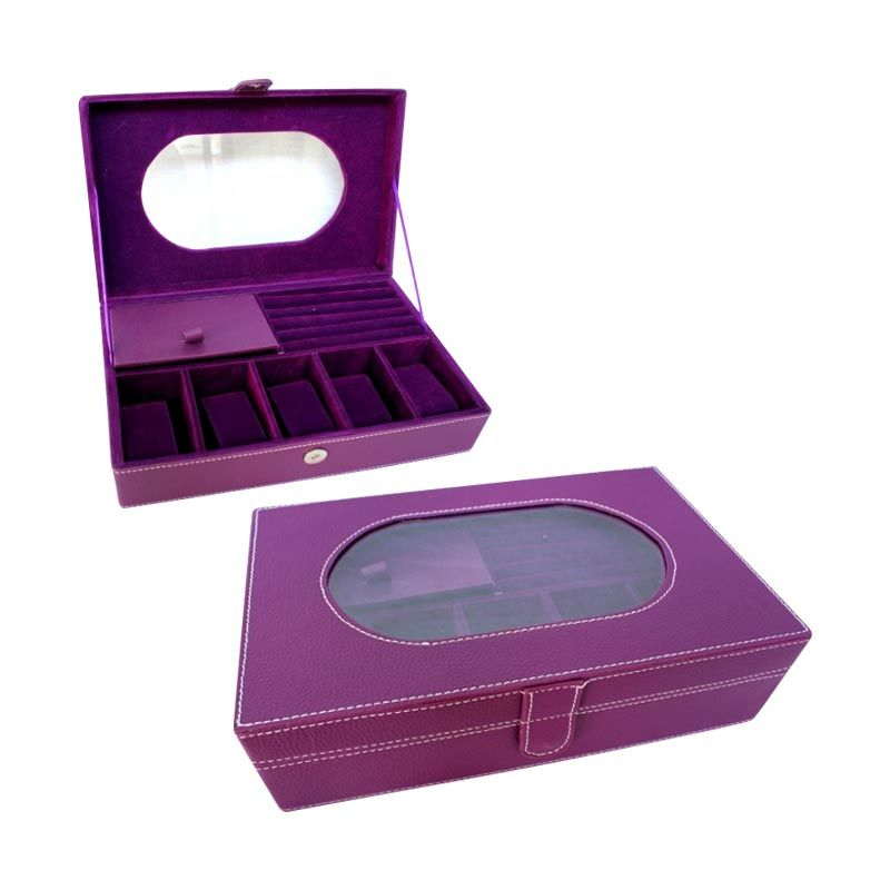 Grandby Watch Box and Jewelry Kaca Oval Ungu