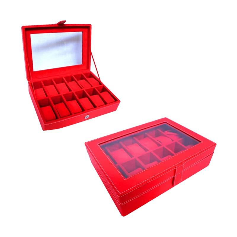 Grandby Watch Box Organizer 12 Merah