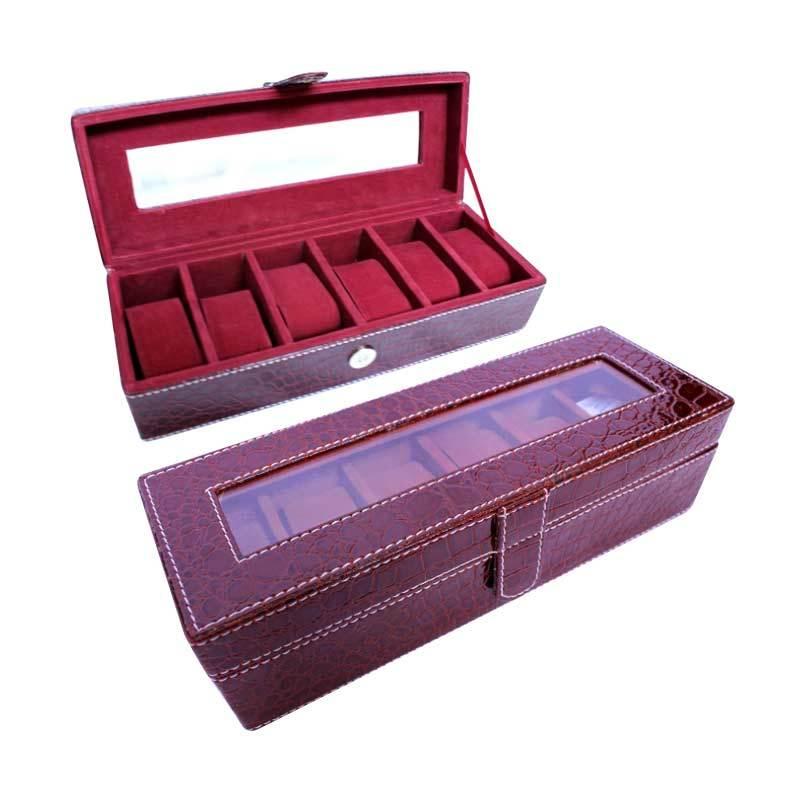Grandby Watch Box Organizer 6 Croco Marun