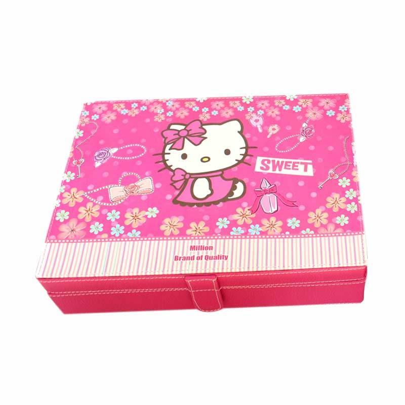 Grandby Kotak Jam Organizer 12 Kitty Jewel Pink