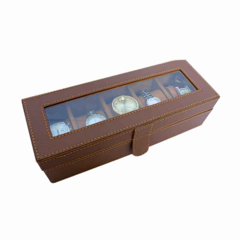 Grandby Kotak Jam Organizer 5 Coklat Muda