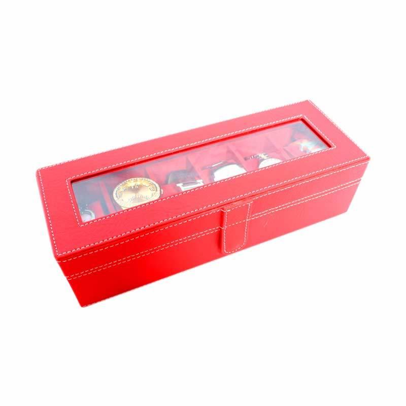 Grandby Kotak Jam Organizer 6 Merah