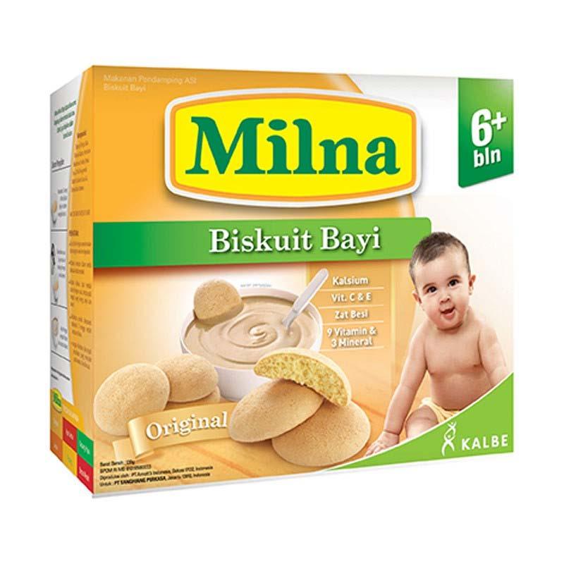 Milna Biskuit Bayi 6m+ - Original Makanan Bayi