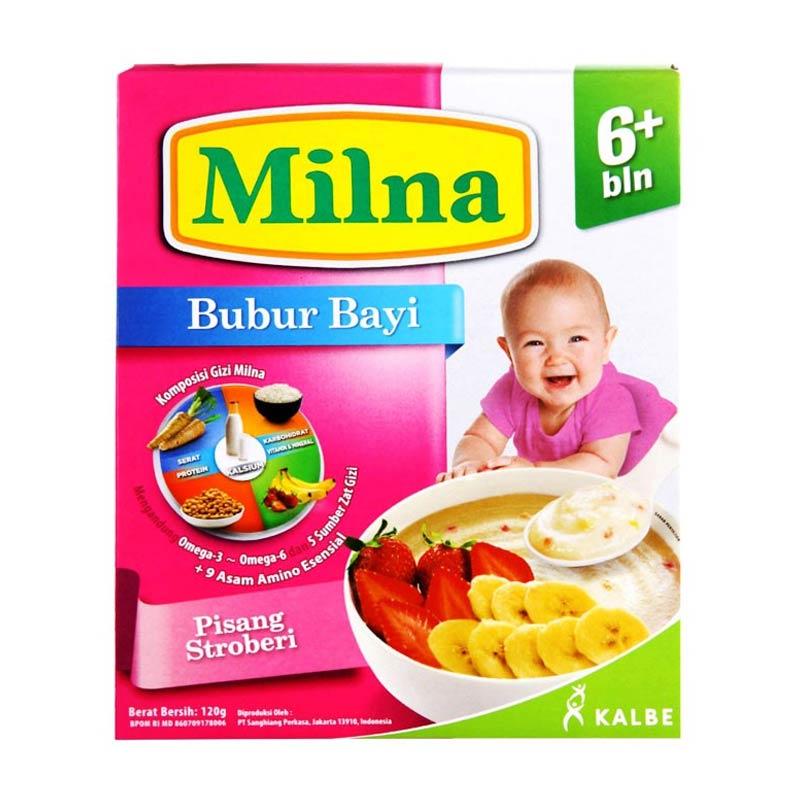 harga Milna Bubur Bayi Pisang Stroberi 6m+ Makanan Bayi Blibli.com
