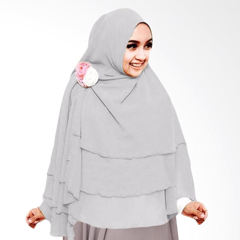 Milyarda Hijab 3 Layer Khimar - Abu-abu