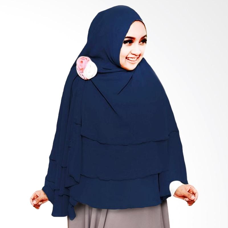 Milyarda Hijab 3 Layer Khimar - Biru Dongker