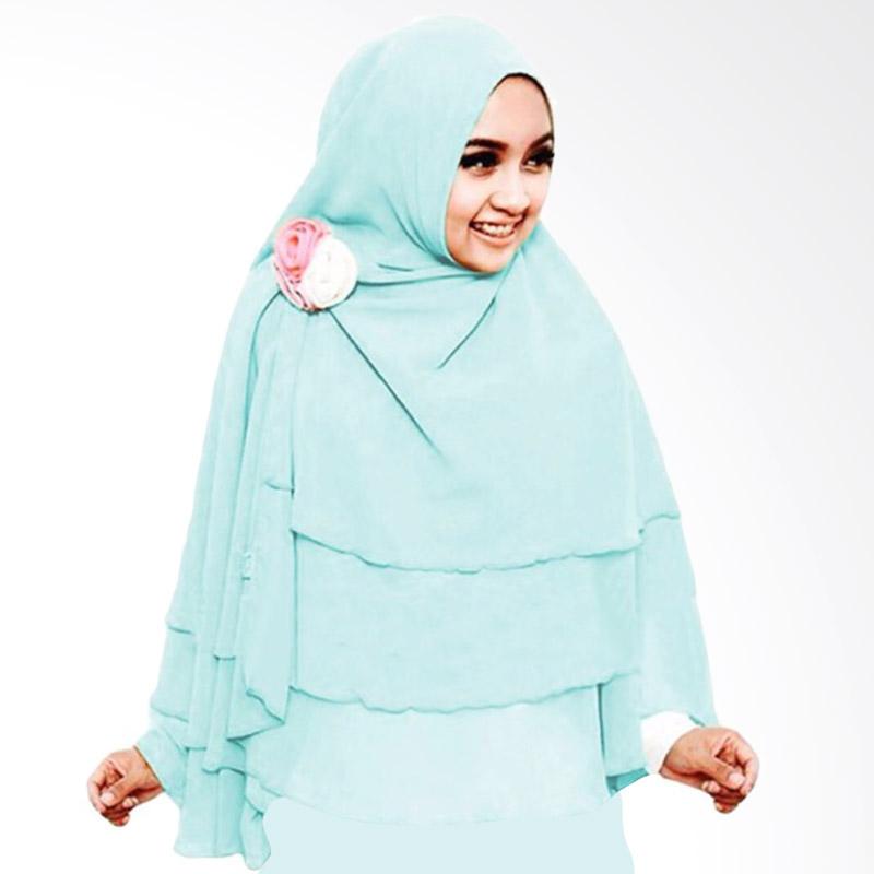 Milyarda Hijab 3 Layer Khimar - Biru Muda