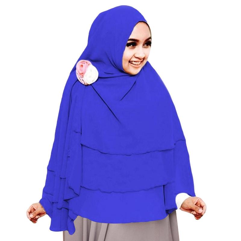 Milyarda Hijab 3 Layer Khimar - Biru Tua