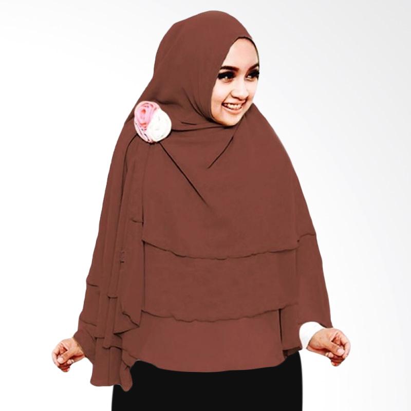 Milyarda Hijab 3 Layer Khimar - Coklat