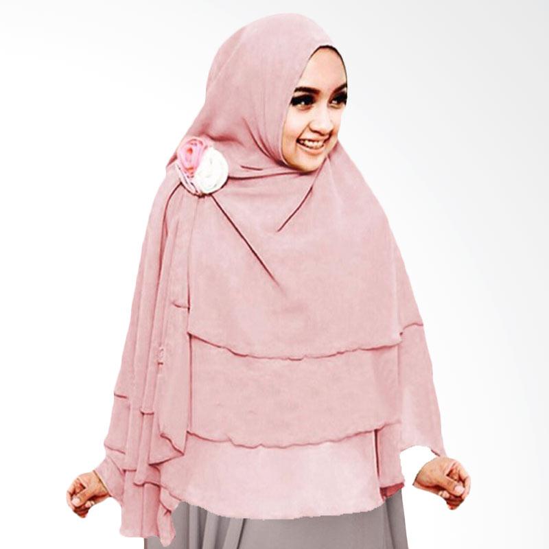 Milyarda Hijab 3 Layer Khimar - Dusty Pink