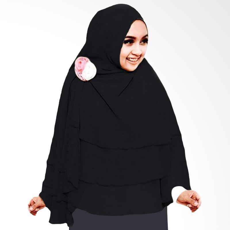 Milyarda Hijab 3 Layer Khimar - Hitam
