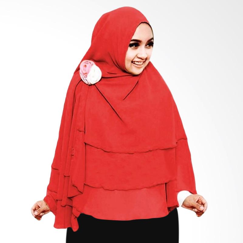Milyarda Hijab 3 Layer Khimar - Merah