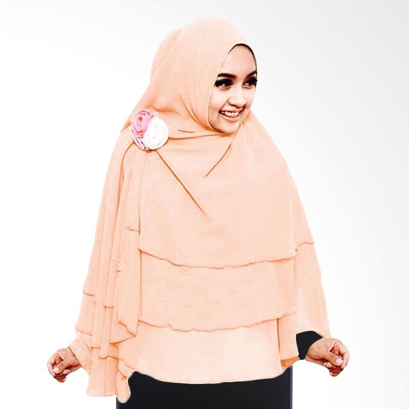 Milyarda Hijab 3 Layer Khimar - Peach