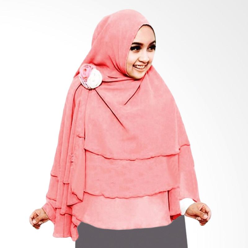 Milyarda Hijab 3 Layer Khimar - Pink