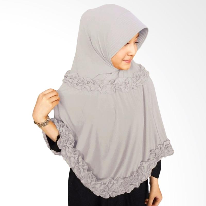 harga Milyarda Hijab Gotik Panjang Bergo Syar'i - Abu-abu Blibli.com