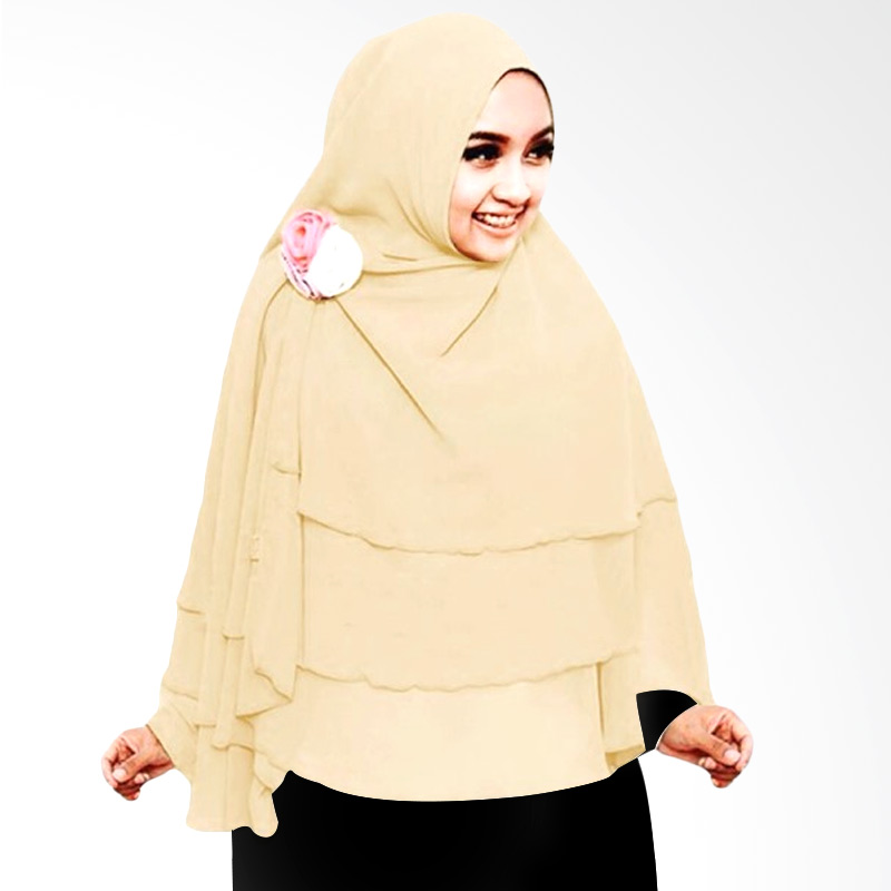 Milyarda Hijab 3 Layer Khimar - Cream