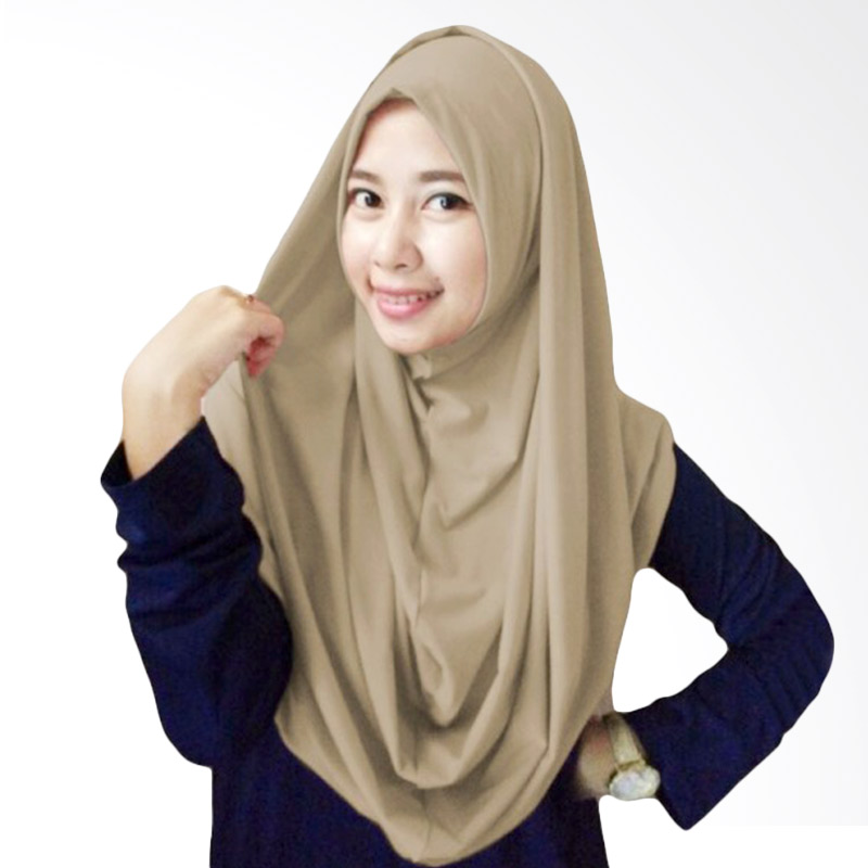 Milyarda Hijab Long Syria Kerudung - Coklat Muda