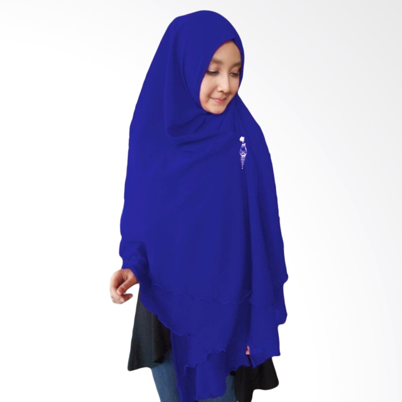 Milyarda Hijab Oki Panjang Kerudung Syar'i - Biru Tua