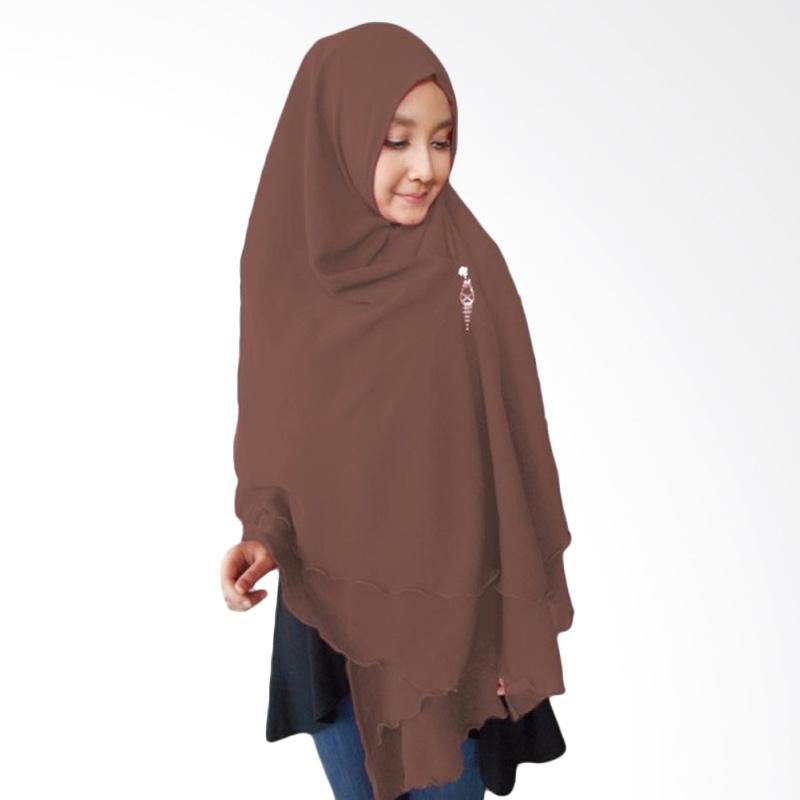 Milyarda Hijab Oki Panjang Kerudung Syar'i - Coklat