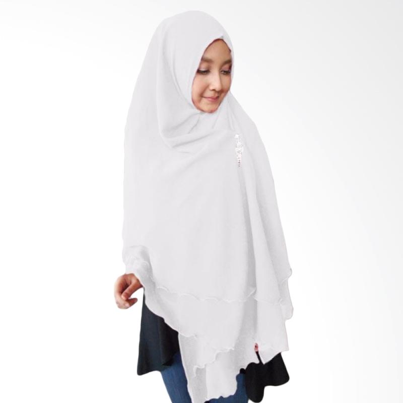Milyarda Hijab Oki Panjang Kerudung Syar'i - Putih