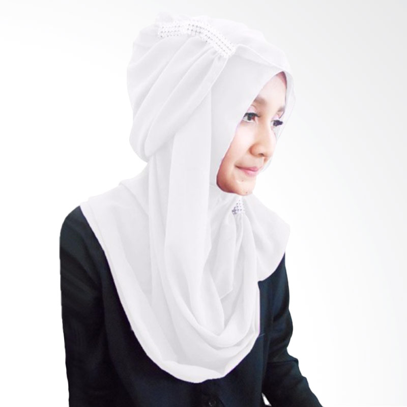 Milyarda Hijab Ring Kerudung Instan - Putih
