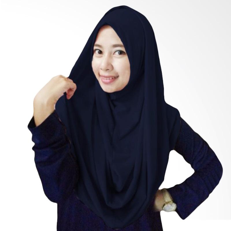 Milyarda Long Syria Hijab - Biru Dongker