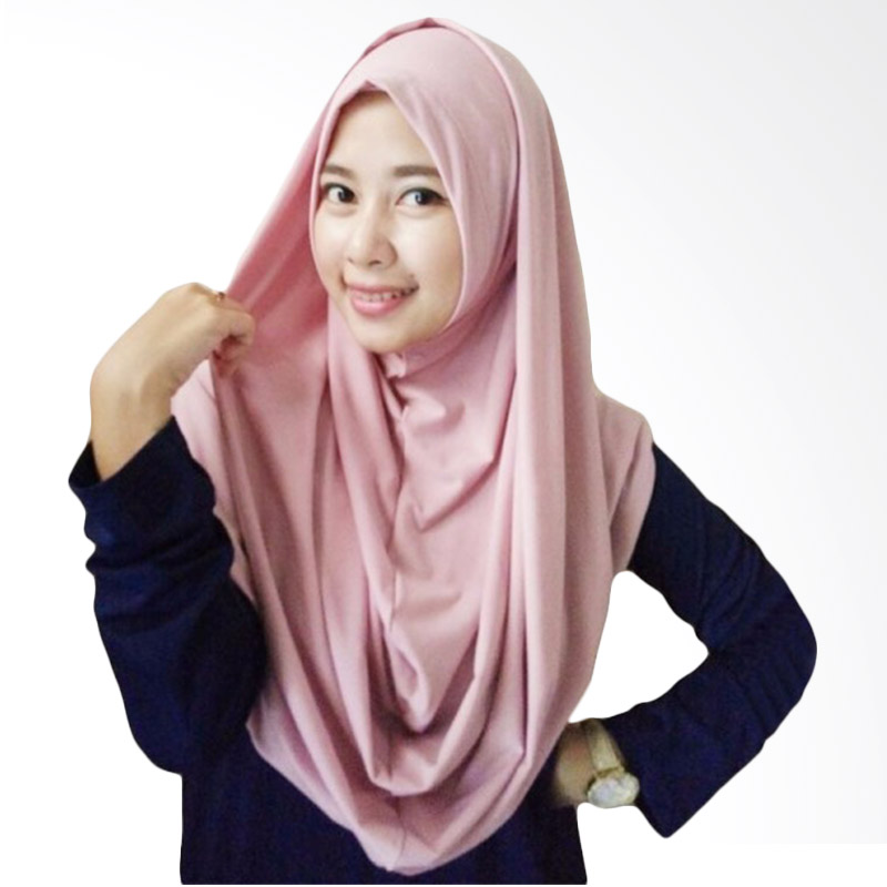 Milyarda Long Syria Hijab - Dusty Pink