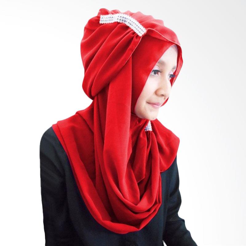 Milyarda Ring Hijab - Merah