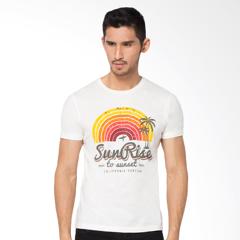 Minarno Sunrise S-S Tee Tshirt Pria - White Extra diskon 7% setiap hari Extra diskon 5% setiap hari Citibank – lebih hemat 10%