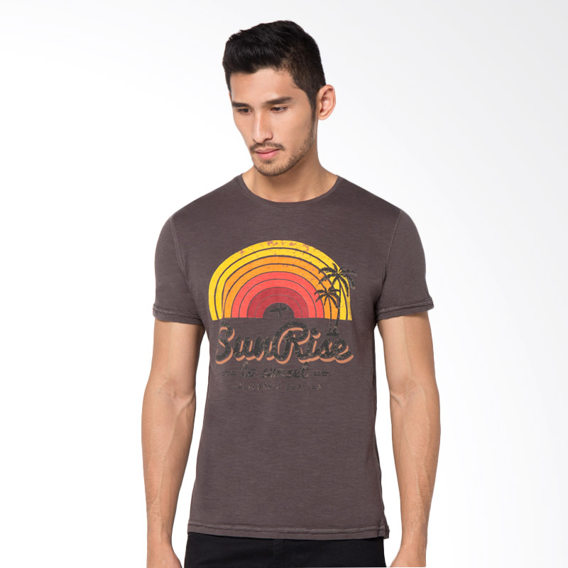 Minarno Sunrise S-S Tee Tshirt Pria - Dark Grey Extra diskon 7% setiap hari Extra diskon 5% setiap hari Citibank – lebih hemat 10%
