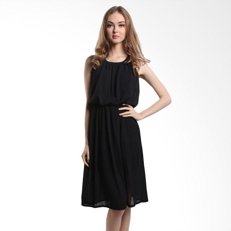 MINEOLA Sleeveless 4-1508401f Black Mini Dress