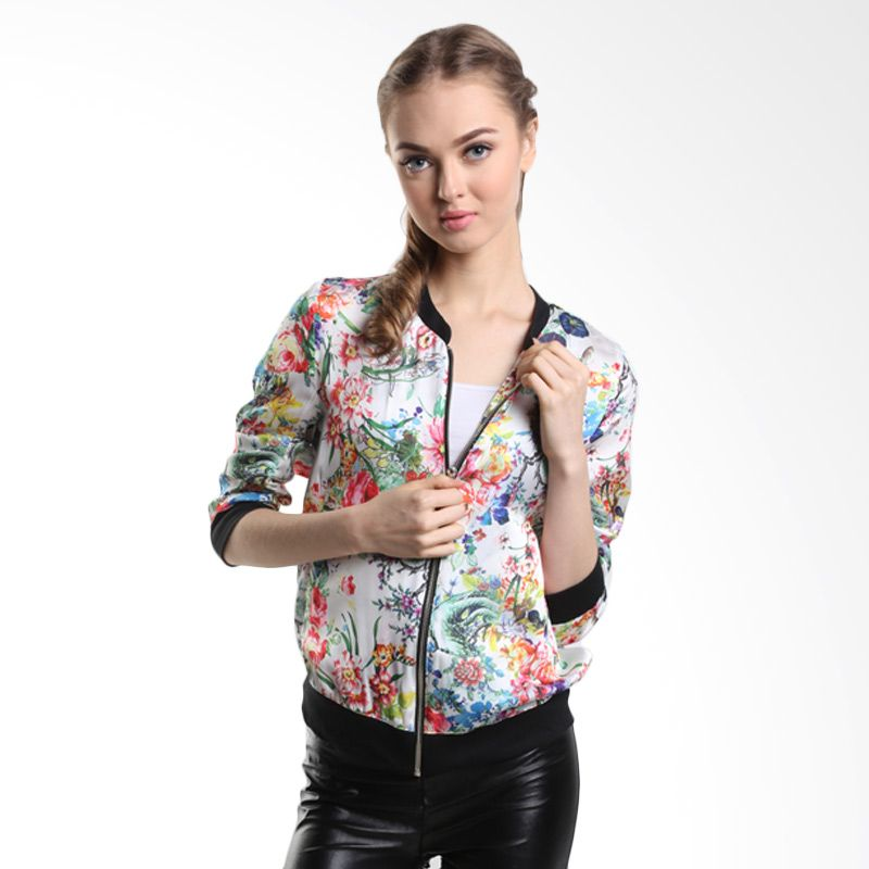 Mint Camille Bomber Flower MR15070201 Multy Print Jaket Wanita