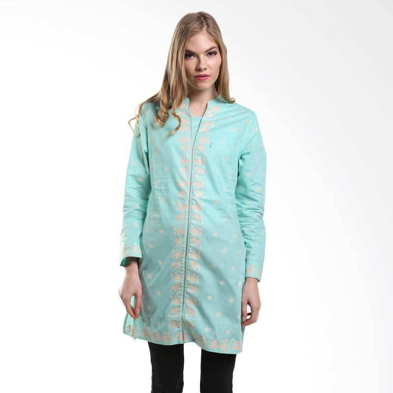 Mint Festive AATIRAH Solid Cotton Tunic MR15079103 Aqua Atasan Muslim
