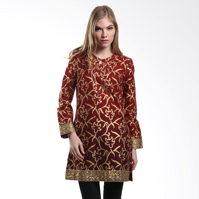Mint Festive ANEESA Ombre Cotton Tunic MR15079106 Red Gold Atasan Muslim