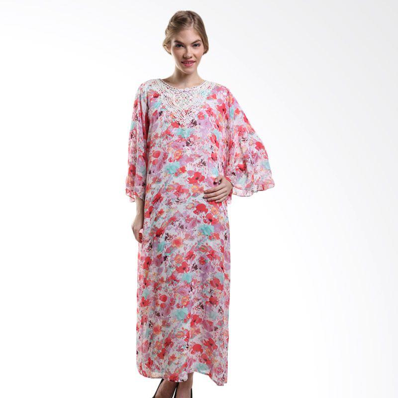 Mint Festive Tanisha Chiffon Floral Printed MR15079607 Off White Dress Muslim