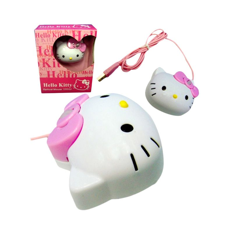 Miracle Shop Hello Kitty USB Mouse
