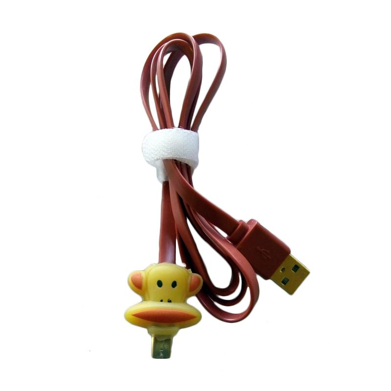 Miracle Shop Paul Frank Coklat USB Data Cable
