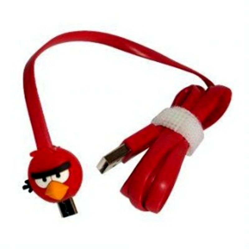 Miracle Shop Angry Birds Merah USB Data Cable