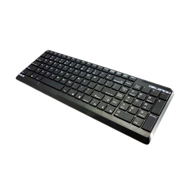 E Blue Delgado USB Black Slim Keyboard