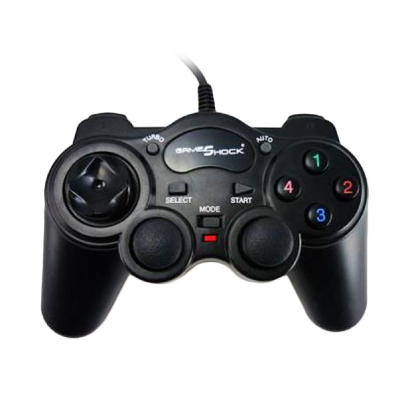 Gameshock HY-8103 Black Single Gamepad with Vibration