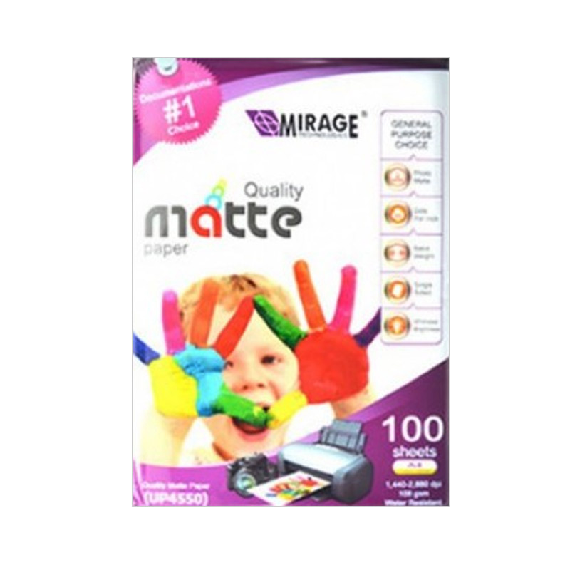 Mirage 4550 Quality Matte Paper [100 Sheets]