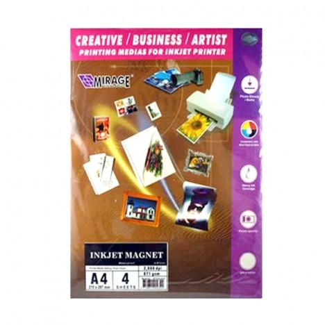 Mirage Inkjet Magnet Paper [4 Sheets]
