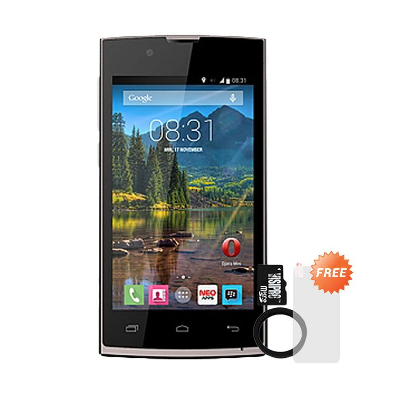 Mito Fantasy Mini A700 Smartphone + MicroSDHC 8Gb Class 6 + Elastic Ring Bumper + Screenguard