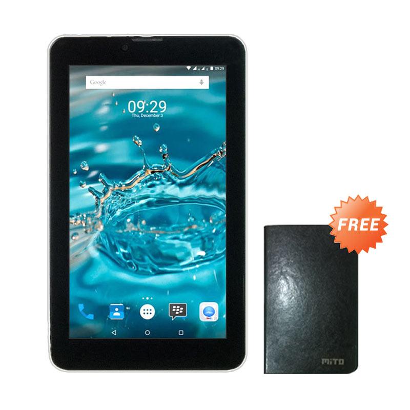 harga Mito T65 Fantasy Tablet - Hitam [8 GB] + Free Flip Cover Blibli.com