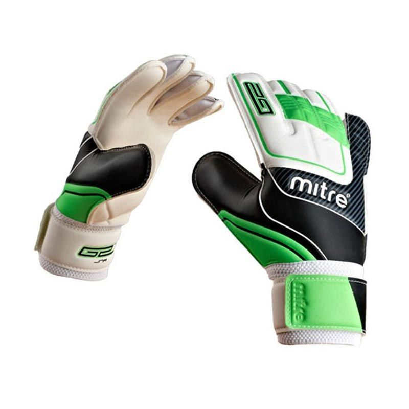 Mitre Goalkeeping Glove Anza G2 Junior White Black