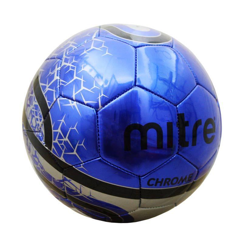 Mitre Soccer Ball Chrome 32P Size 5 Blue